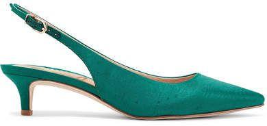 8ba556c616e Sam Edelman - Ludlow Dupion Slingback Pumps - Emerald