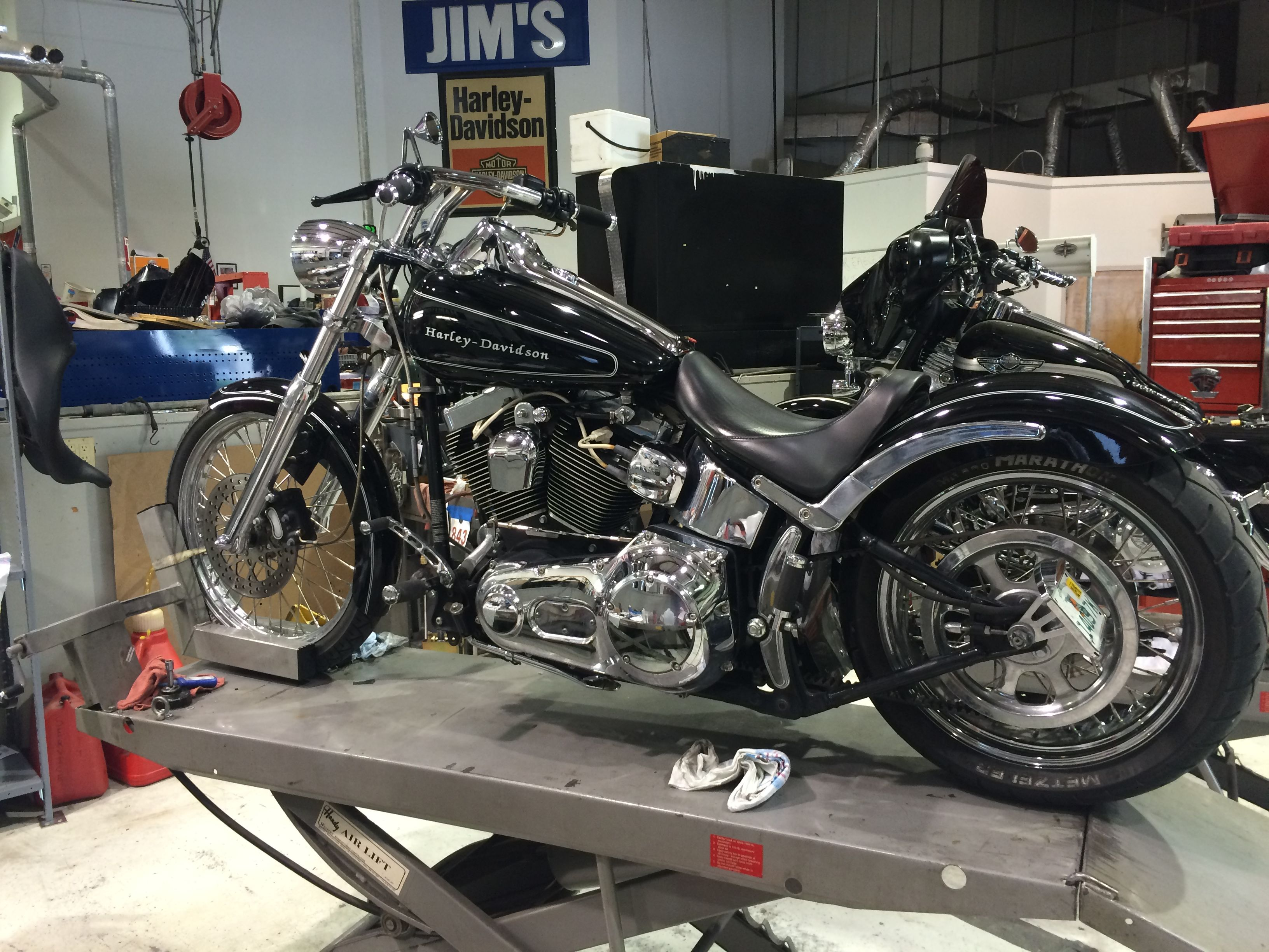 2005 Harley-Davidson Softail Deuce with Heartland Biker wide