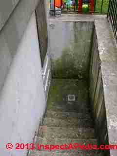 debris and leaves easily clog this basement walkout stairwell drain rh pinterest com