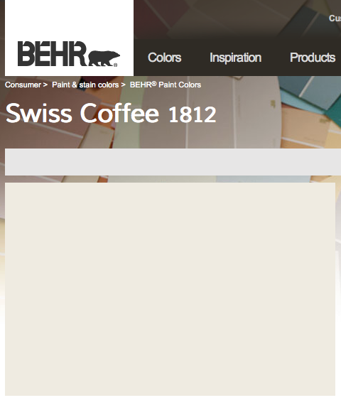 Behr Swiss Coffee Nursery Yellow Paint Colors Painting