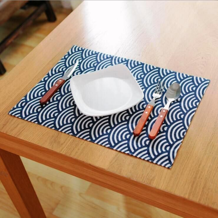 japan design a pack of 2 placemats rectangular table mats fabric rh pinterest com