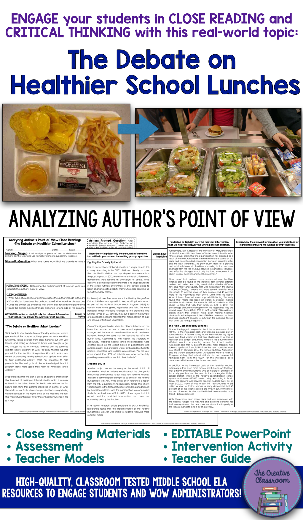 analyzing author s point of view in a non fiction text healthier are you looking for a thought provoking and real world topic that will engage