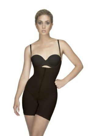 4cf5b64de07 Vedette 153 Black  Braless Full Body Shaper Mid-thigh Corset Vedette  Shapewear.  84.00