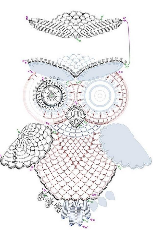 Patrón del buho … | CROCHET | Pinterest | Crochet, Tricot y Tricot ...