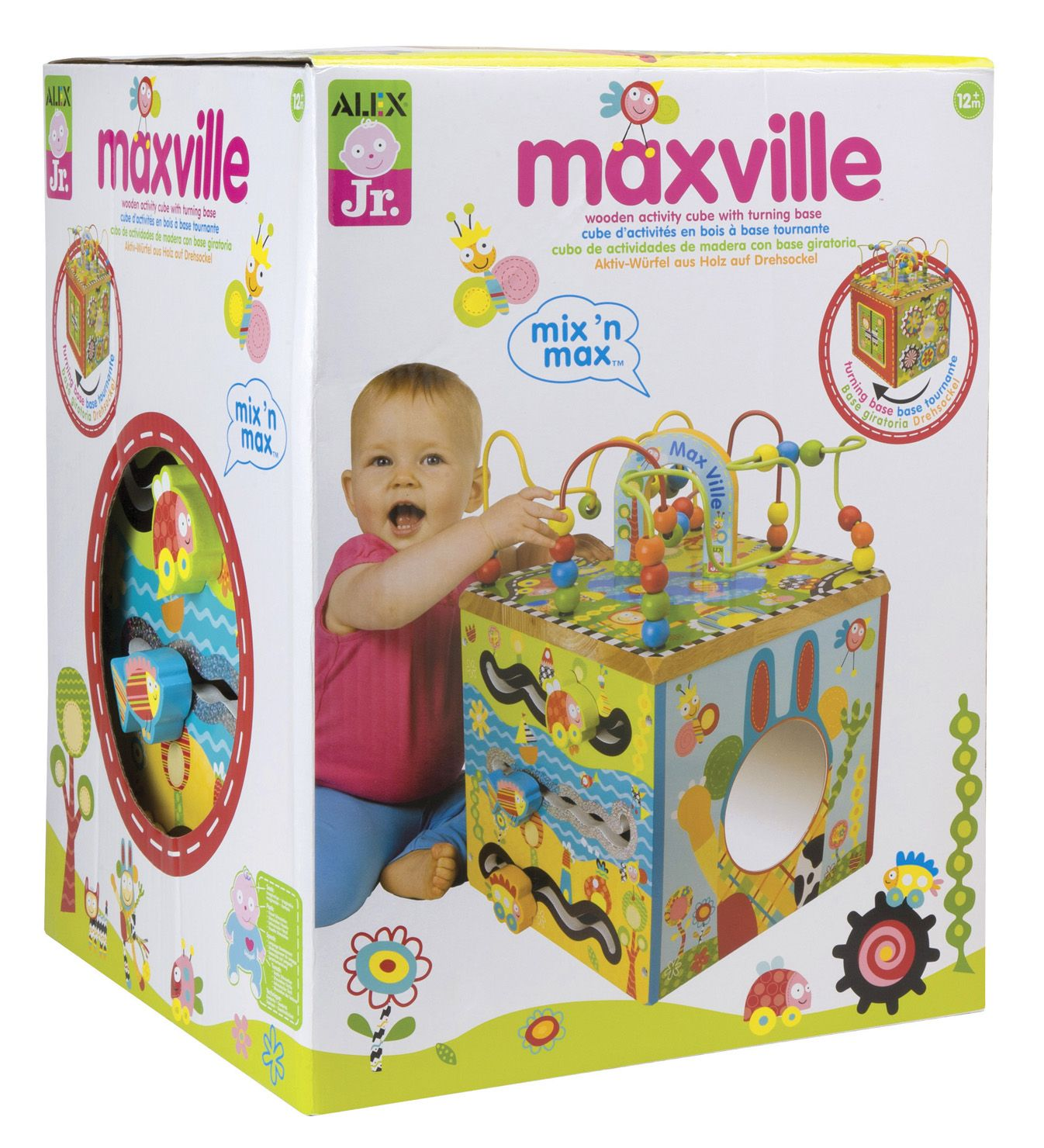 The Maxville Wooden Activity Cube is more than a toy s an