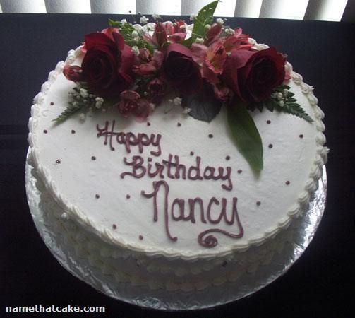 Happy Birthday Nancy Cake - Cake Wallpaper