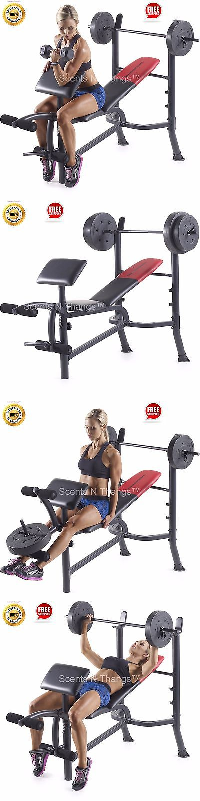 Benches 15281 Weider Pro 265 Standard Bench With 80 Lb Vinyl Weight