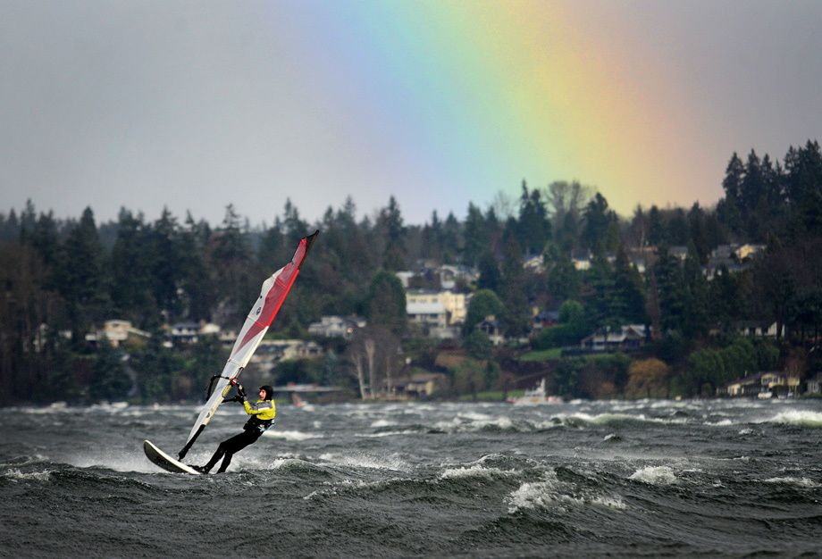 Seattle Map Lake Union%0A Windsurfing on Lake Washington  a nice before or after work workout for  adventurers  Courtesy