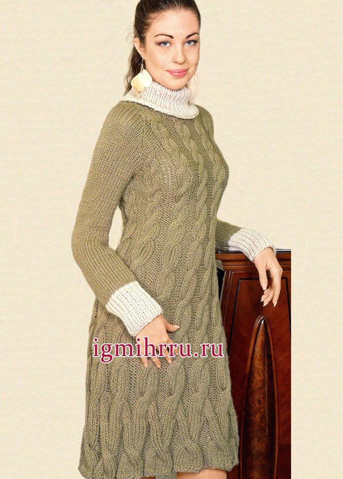 Узор для вязания спицами платье