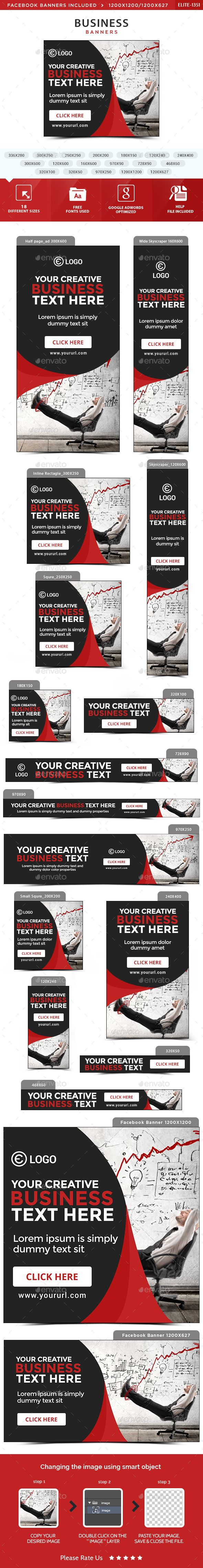 Business Banners   Banners, Psd templates and Banner template