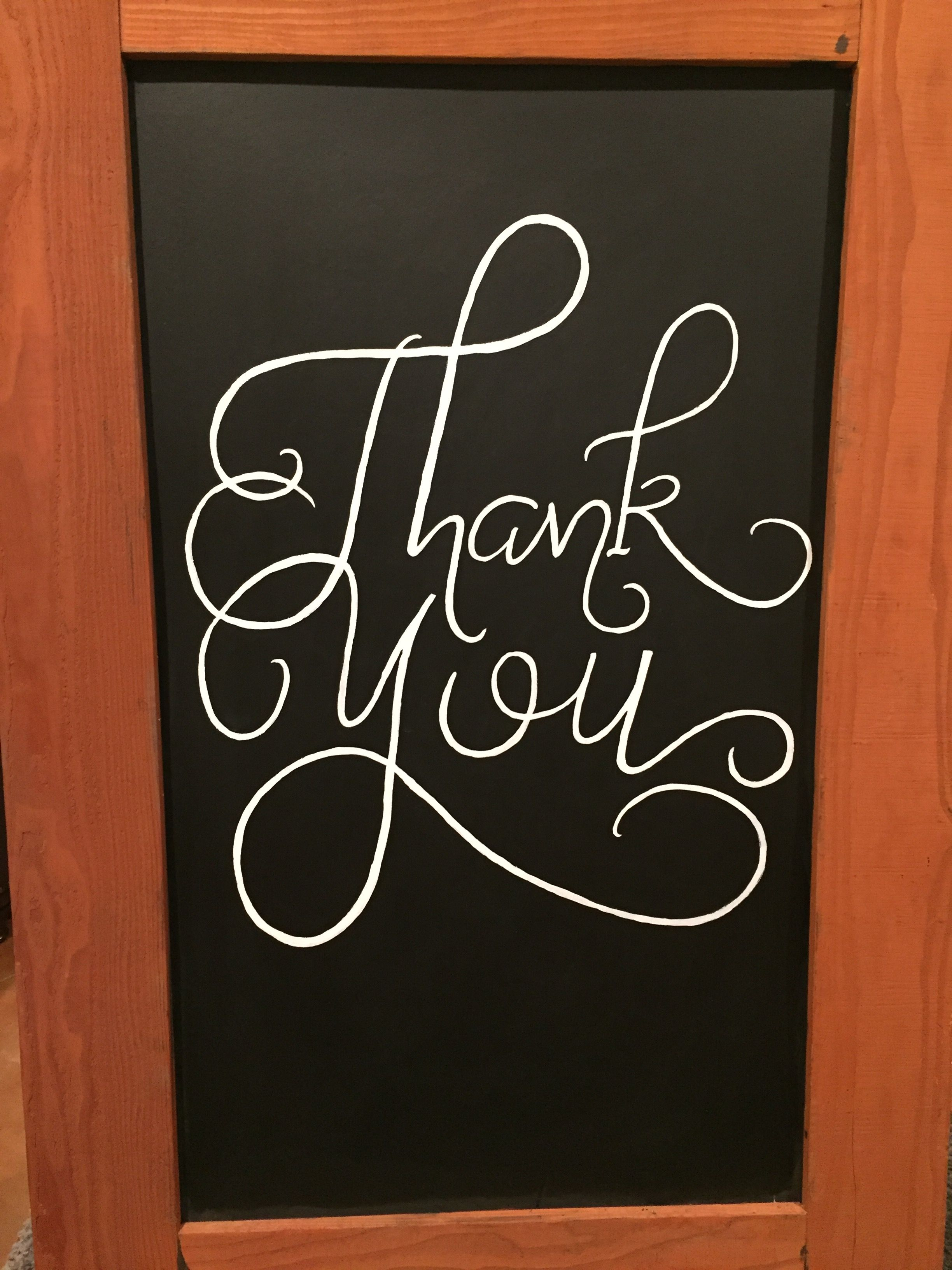 Thank you hand lettering chalkboard wedding Chalkboard