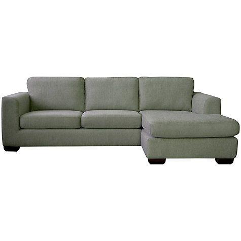 buy john lewis felix leather rhf chaise end sofa with dark legs rh pinterest com