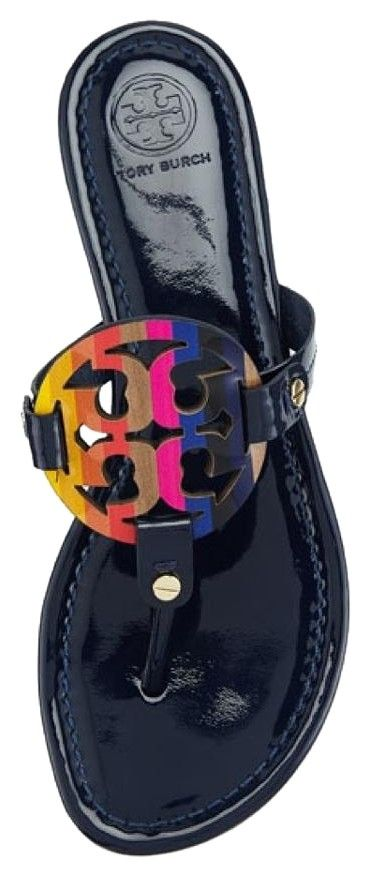 ff777444c Tory Burch Nib Miller Rainbow Logo Size 9.5m ROYAL NAVY Sandals. Get the  must-have sandals of this season! These Tory Burch Nib Miller Rainbow Logo  Size ...
