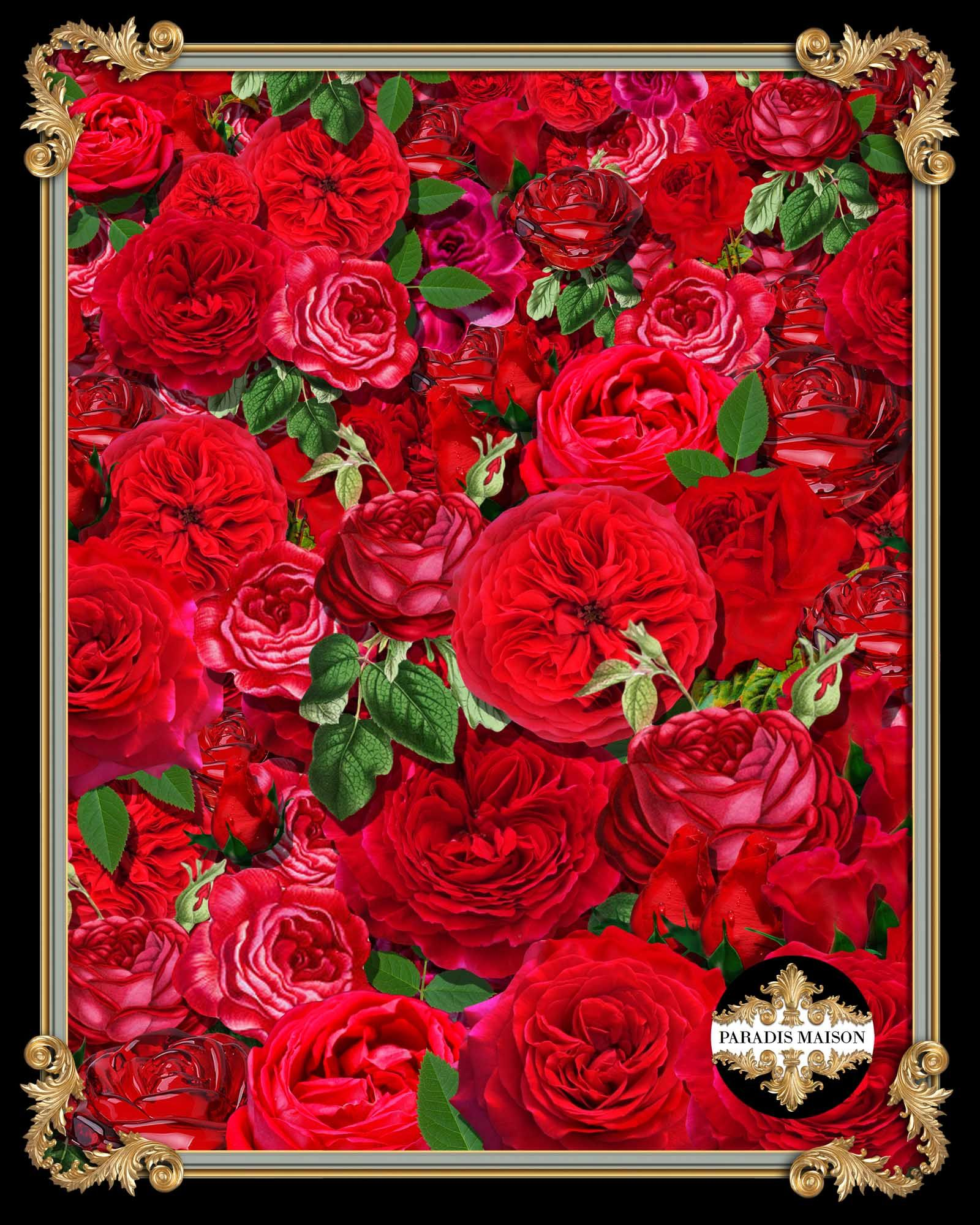 Have To Have The Blanket Of This Print Red Rose Fabric Decor