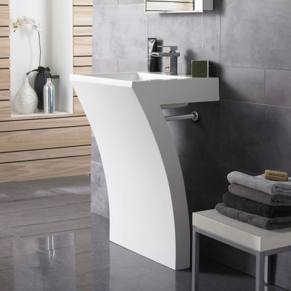 the hudson reed seven pedestal sink is sure to add designer style to any modern bathroom