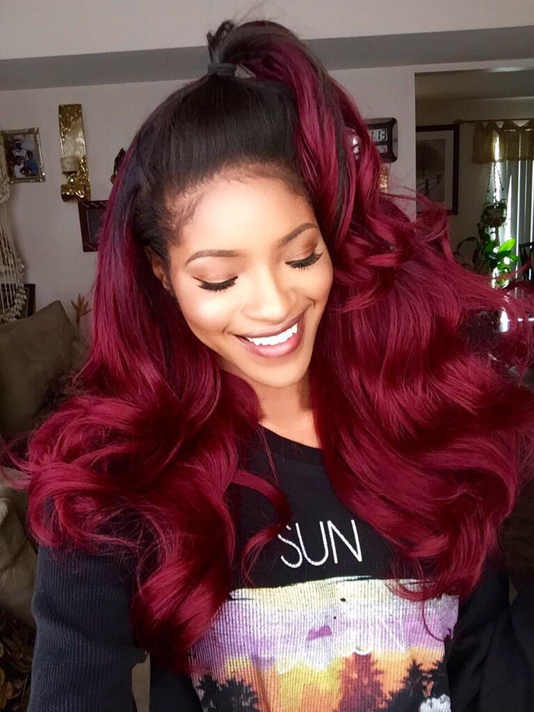 Red Hair Weave Hairstyles Best Ombre Hair Hair Styles