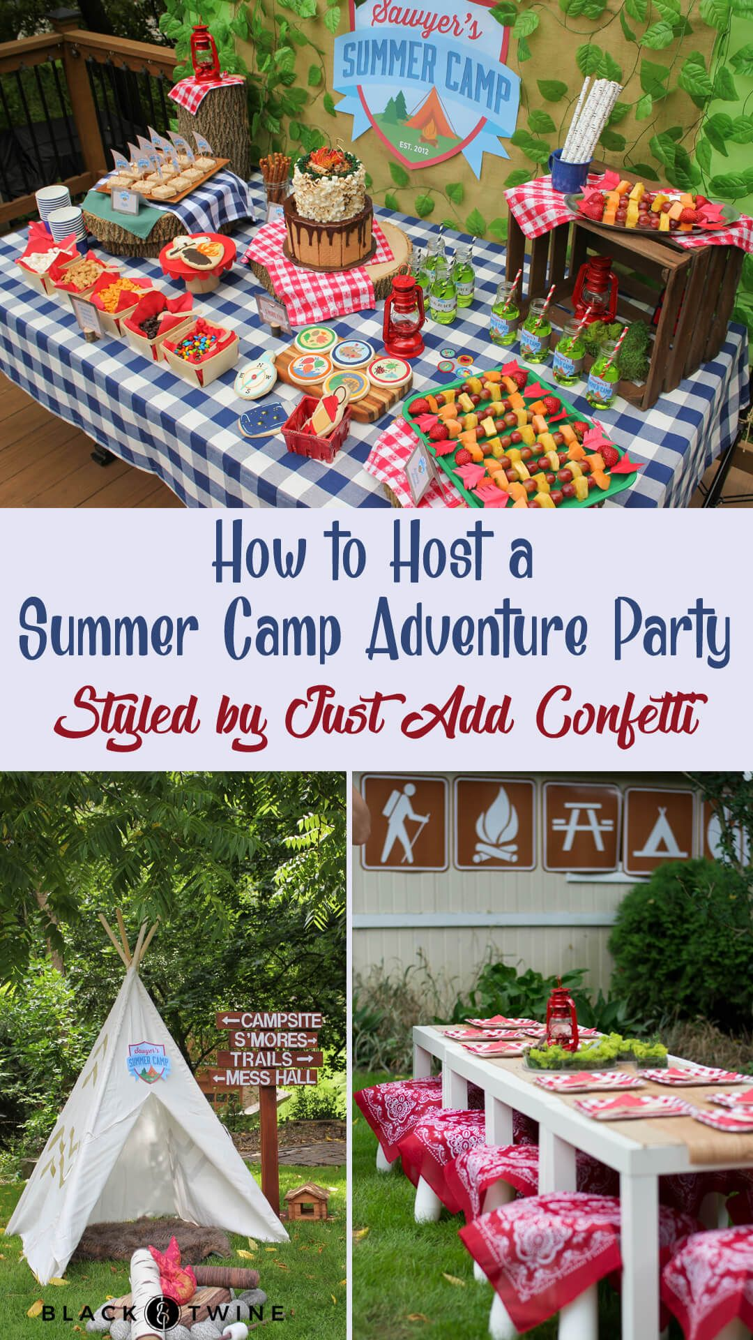 Photos From A Summer Camp Birthday Adventure Styled By Just Add
