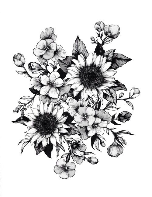 Flowers | Tattoos | Pinterest | Malvorlagen blumen, Tattoo ideen und ...