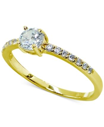 1ea54ab748bb6 Giani Bernini Cubic Zirconia Solitaire Ring in Sterling Silver in ...
