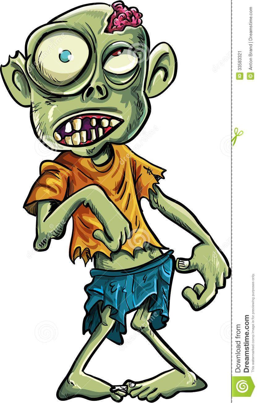 Cartoon Zombie With A Big Eyes Zombie Cartoon Zombie Drawings Cute Zombie