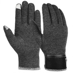 Mens Winter GlovesTexting MittensWarm Cold Weather GlovesBlack