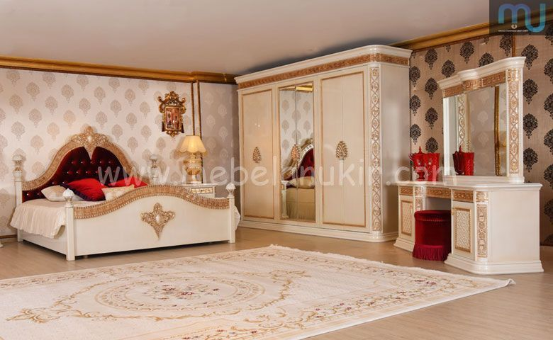 Set Kamar Mewah Jepara Classic Bedroom Luxurious Bedrooms Bedroom Furniture Design Bedroom set with wardrobe