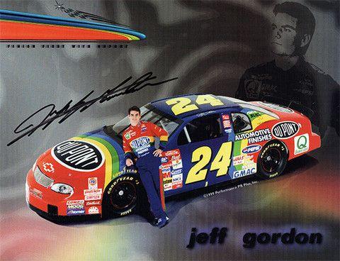 nascar racing legend jeff gordon autograph signed promo photo comes rh pinterest com