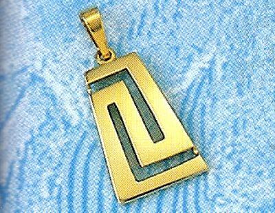 Gold greek key meander pendant pinterest greek jewelry 14k gold pendants ancient greek pendants gold greek aloadofball Choice Image