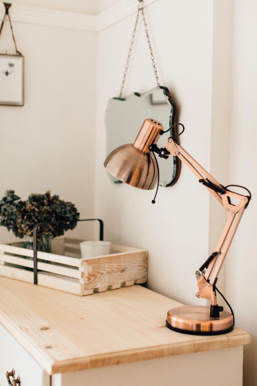 dunelm copper desk lamp modernlamps repurposed lamps desk lamp rh pinterest com