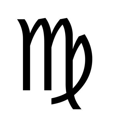 Virgo zodiac sign.
