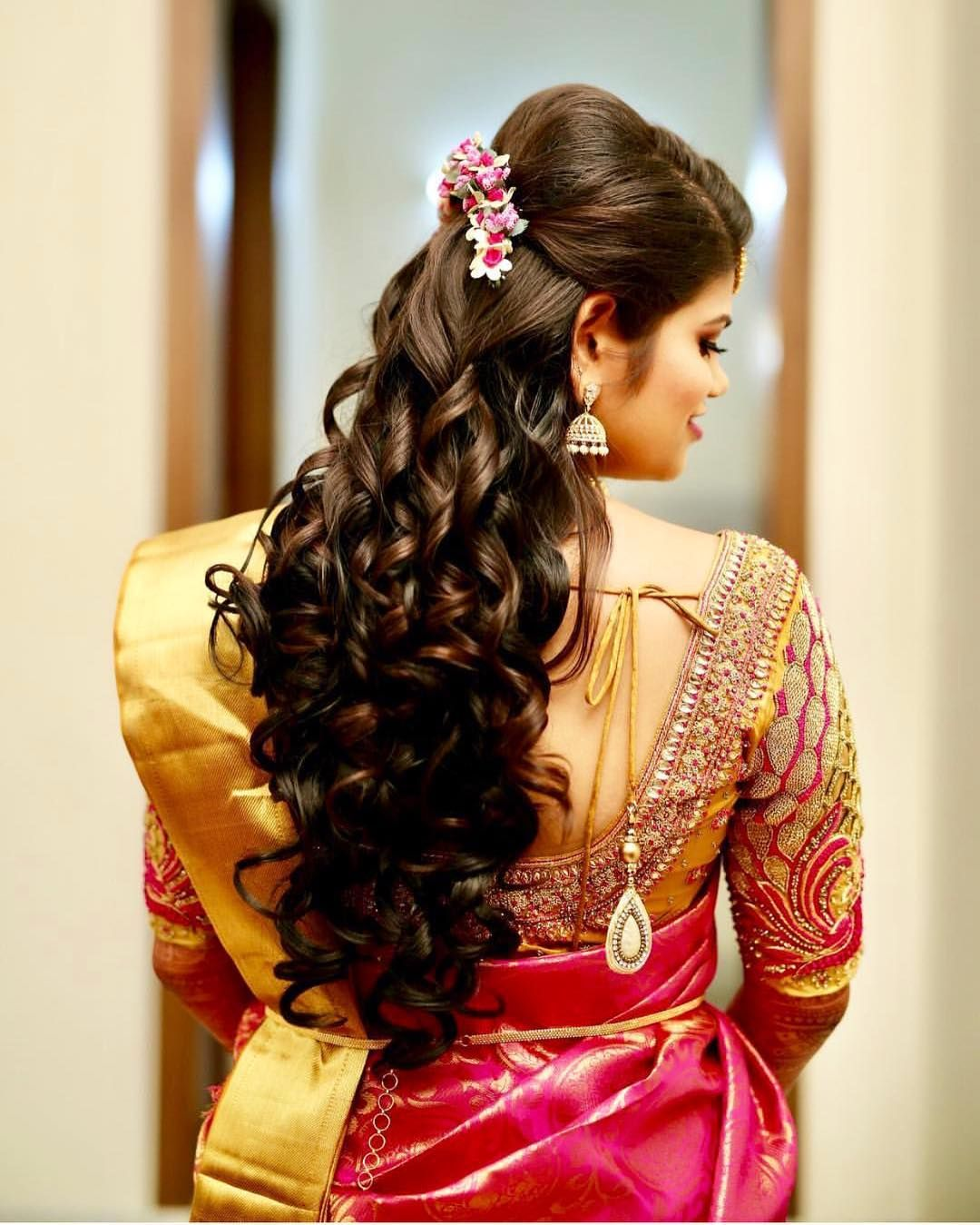 Getting Ready Shots Like These Bridal Hairstyle Goals Mua Indian Bridal Hairstyles Bridal Hairstyle Indian Wedding Hair Styles