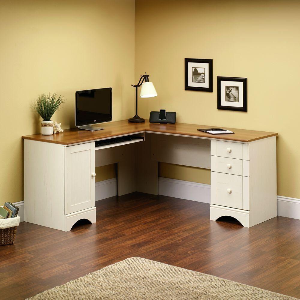 Corner Desk With Drawers Reviews White Corner Computer Desk
