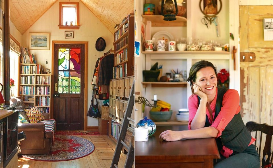 Lily Duval from New Zealand has created a 14-square meter tiny house ...