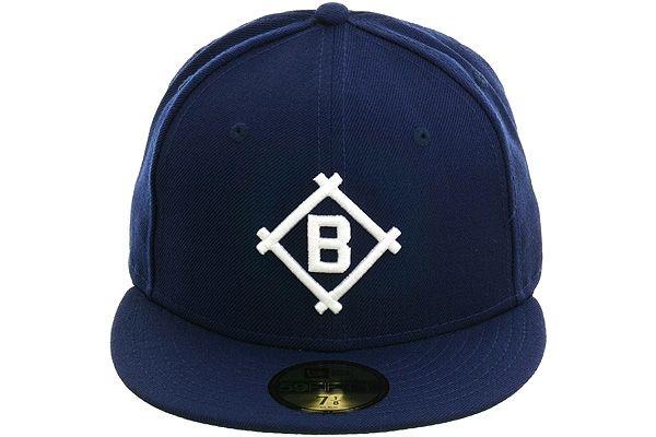 New Era 59Fifty Hat MLB Team Brooklyn Dodgers Mens Black White Fitted 5950 Cap