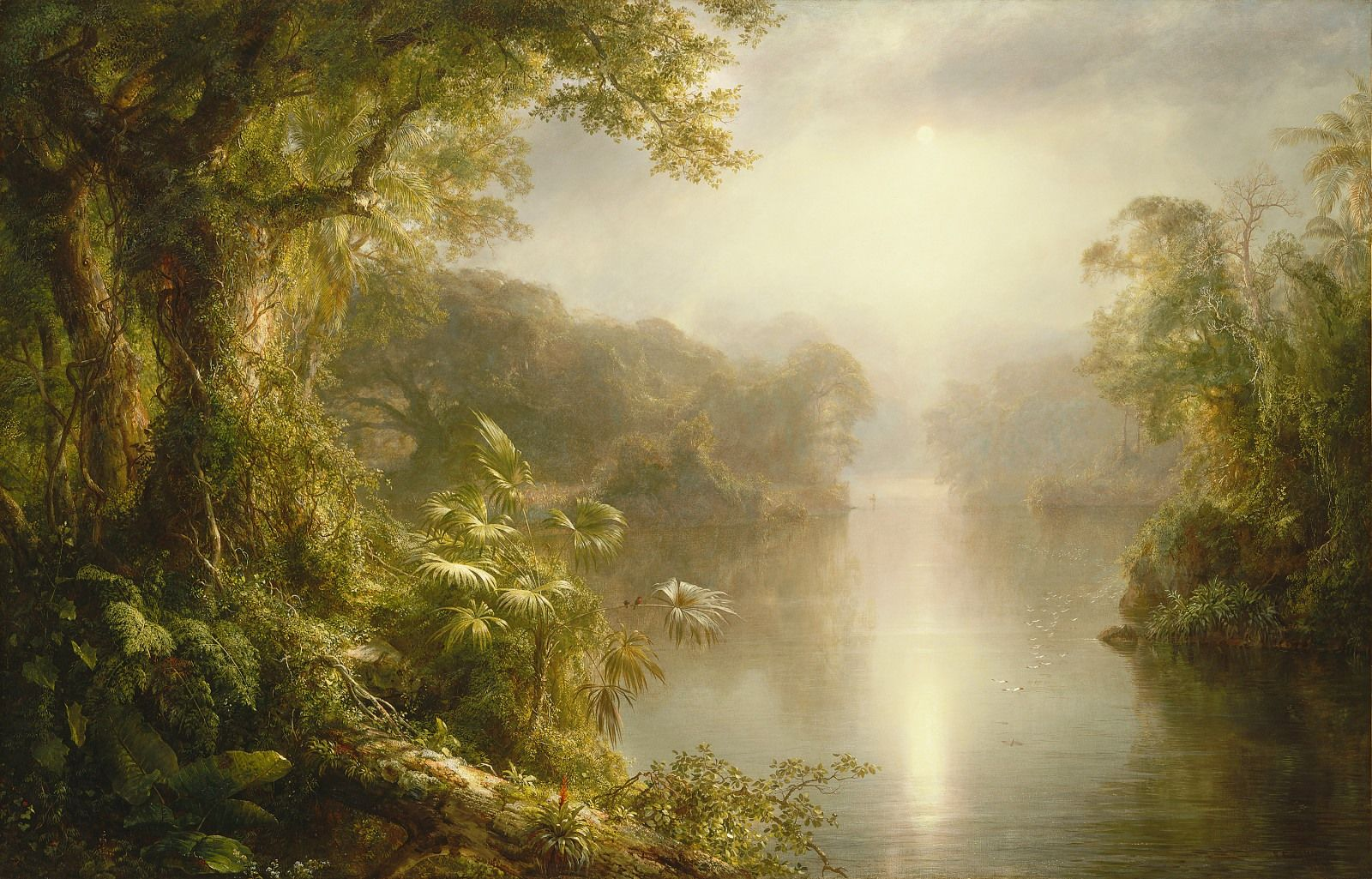 "Frederic Edwin Church, ""El Rio de Luz (The River of Light),"" 1877, oil on canvas, National Gallery of Art, Washington, Gift of the Avalon Foundation, 1965.14.1"