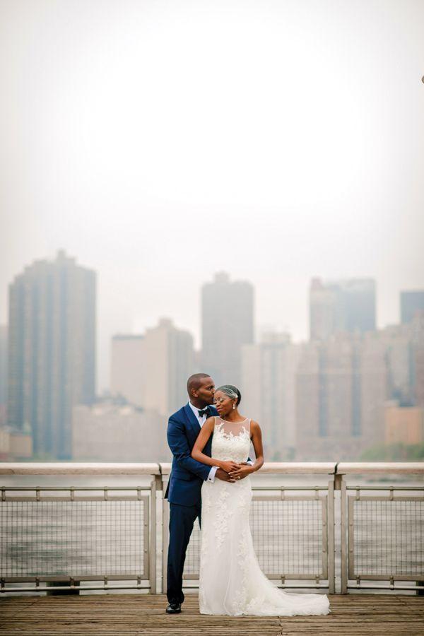 wedding ceremony new york city%0A A Chic  Classy Wedding In NYC  Tina  u     Jean Claude  refinery   http