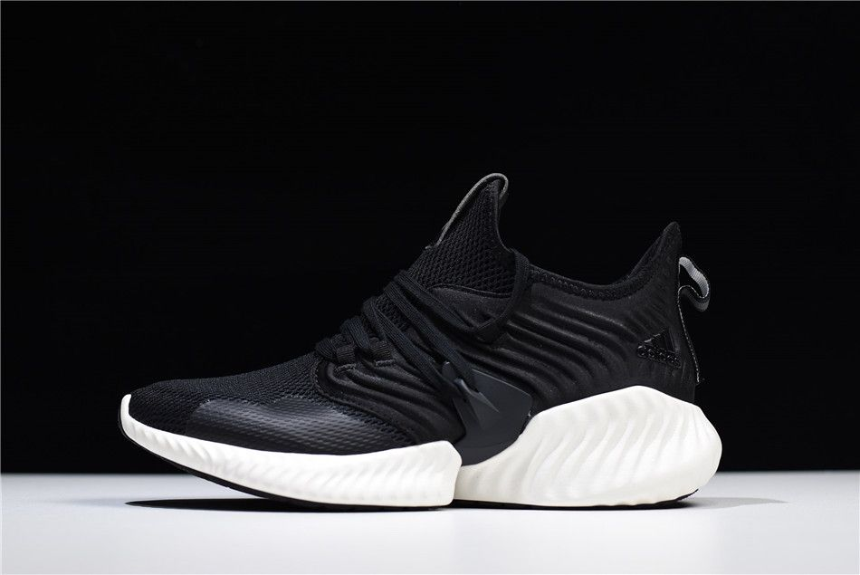 new style c6f13 03c14 2018 Mens and Womens Adidas AlphaBounce Instinct Black White Shoes D97280
