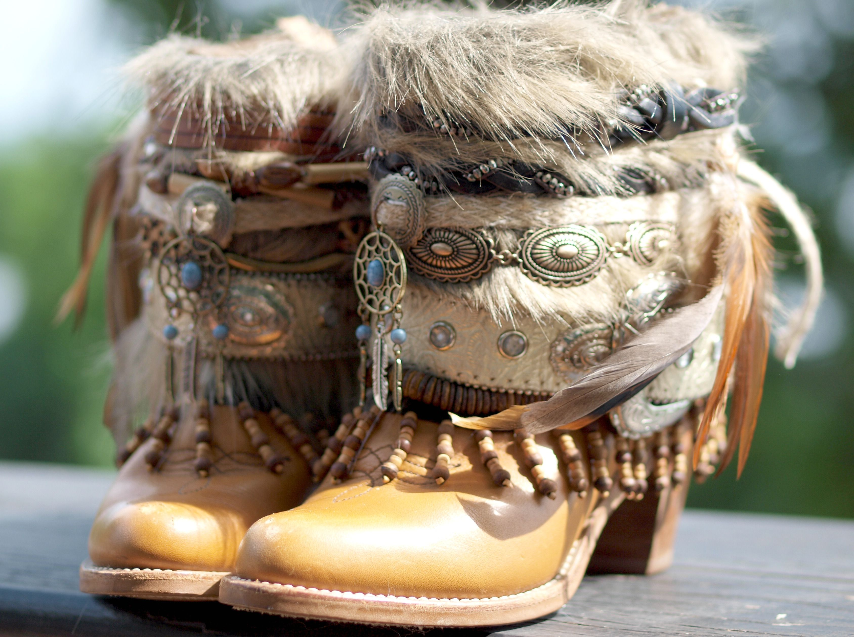 upcycled boho cowboy boots by TheLookFactory  2f22984c150