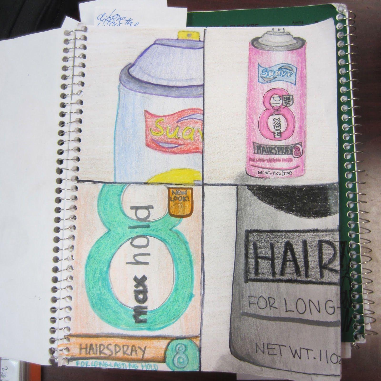 Middle School Sketchbook Assignment Pop Art