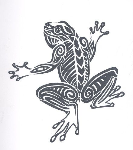 Tribal Frog Tattoo Design by ~Martyrwerewolf on deviantART