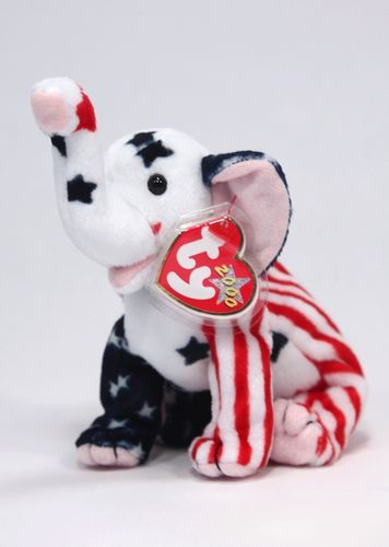 NEW Ty Righty 2000 The Republican Elephant Beanie Baby Mint W Tags  1.99 Beanie  Boos f89c8cbcbfd2