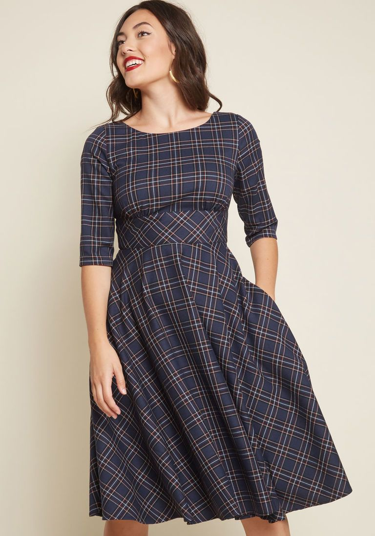 97857841fc Acknowledged Allure Fit and Flare Dress in 14 (UK) - Fit   Flare Midi by  Hell Bunny from ModCloth