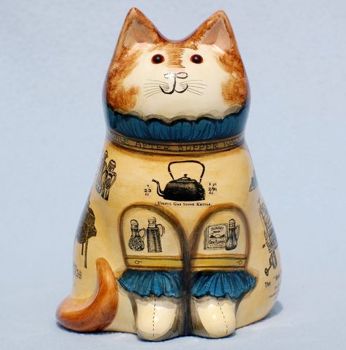 Cat Ornament Gardening Kitty 1976 33