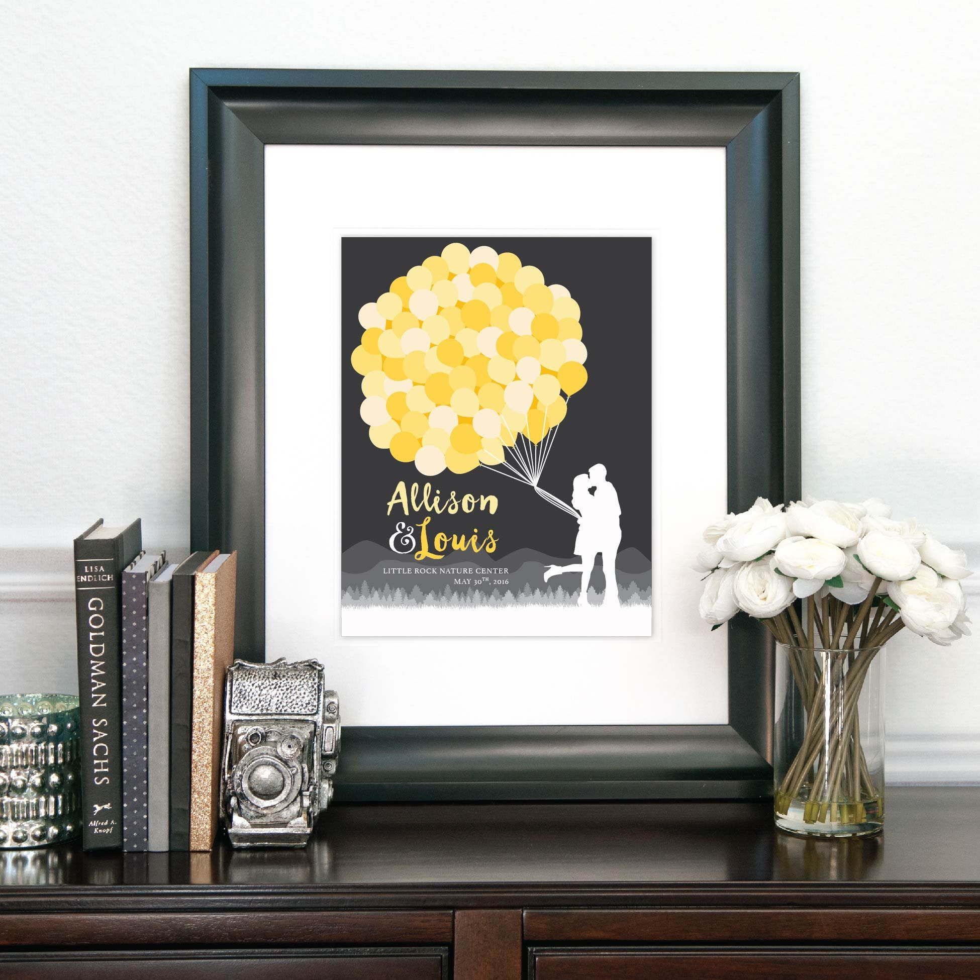 This Balloon Wedding Guestbook Alternative is the