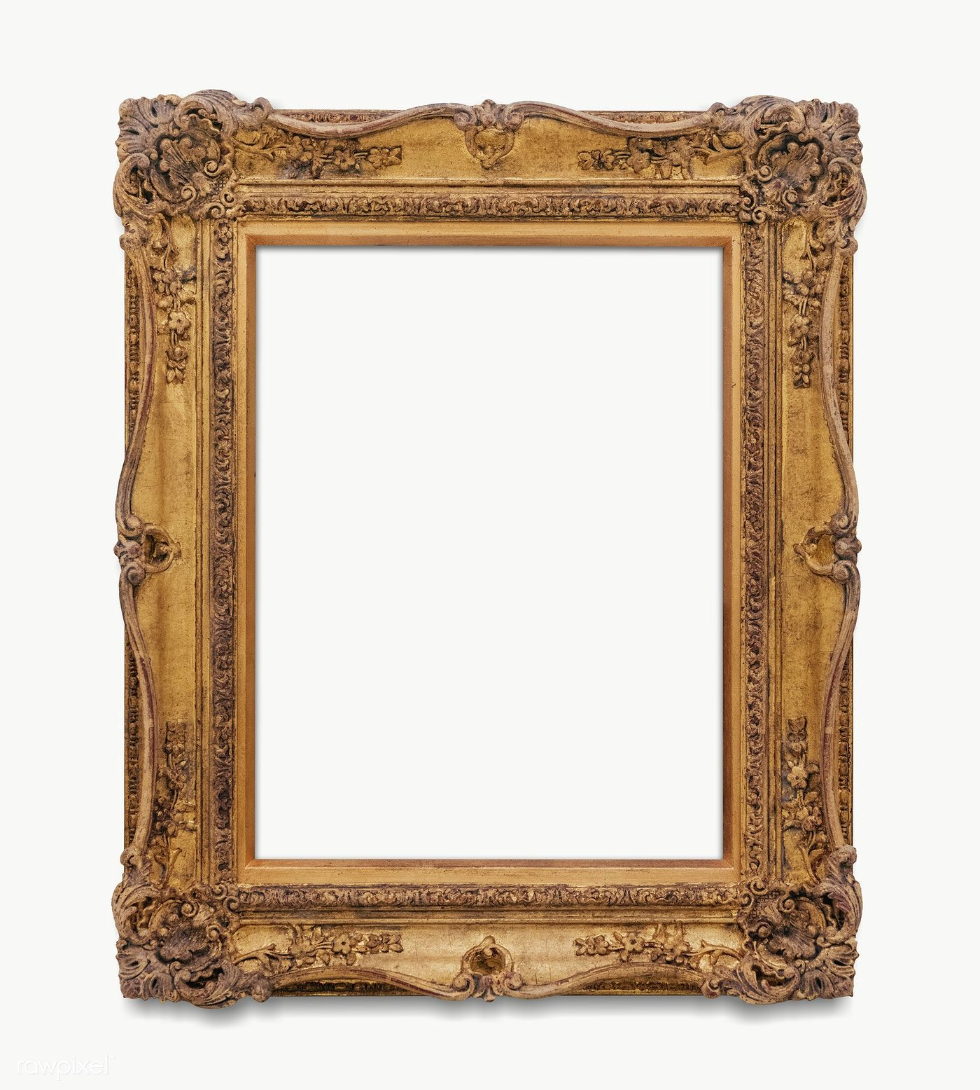 Download Premium Png Of Vintage Rectangle Gold Picture Frame Transparent Gold Picture Frames Pink Picture Frames Blue Picture Frames