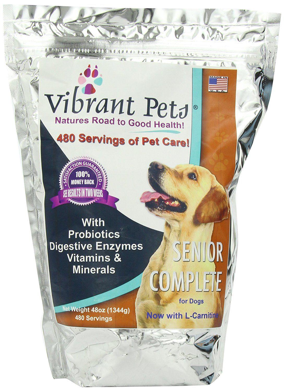 Vibrant pets senior complete 48 ounce dont get left