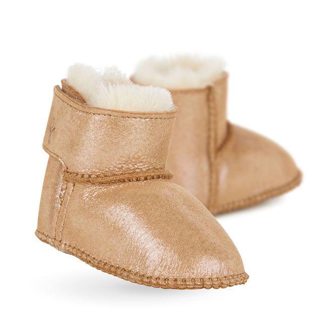 712a78236e Baby Bootie Metallic | sheepskin | Baby booties, Sheepskin boots ...