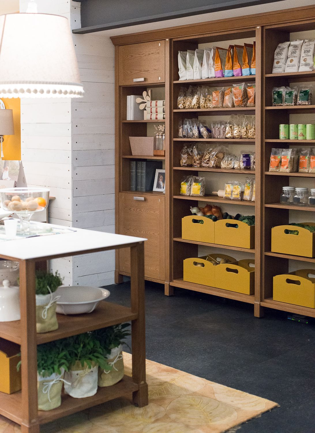 Italian kitchen design features useful items openly