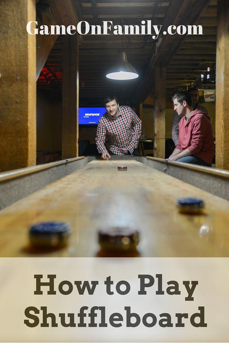 How to Play Table Shuffleboard Shuffleboard table, Play