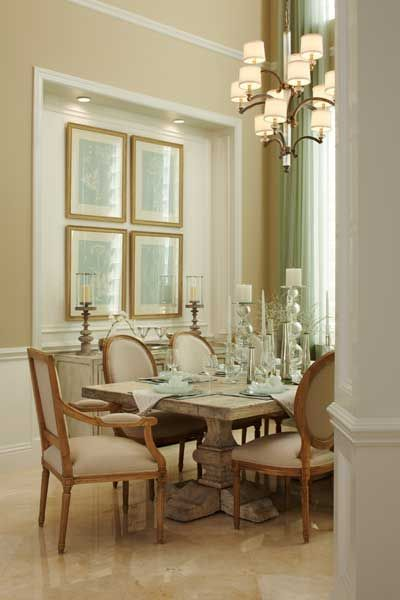 Stunning Dining Room Decor In This Toll Brothers Homethe Off Classy Off White Dining Room Furniture Design Decoration